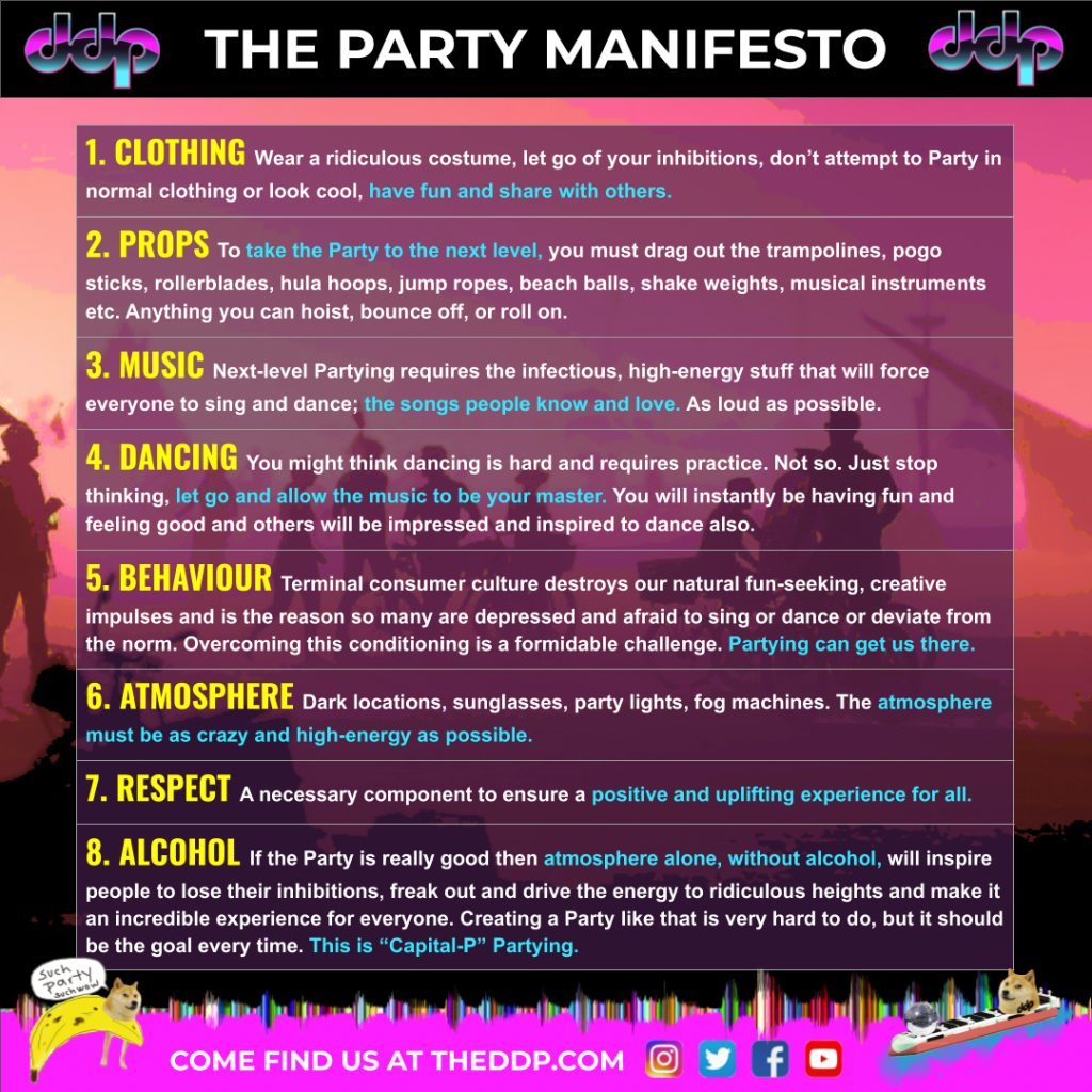 The DDP 8 point Party Manifesto